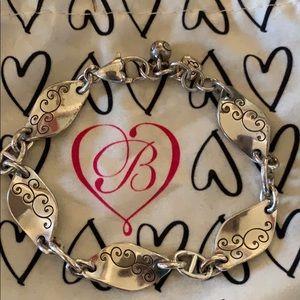 Brighton Silver Wavy Design Bracelet
